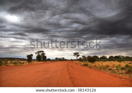 Outback scenery in the Red Centre of Australia (NT)