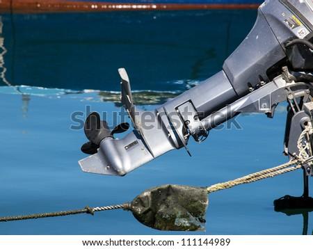 outboard motor on the blu sea