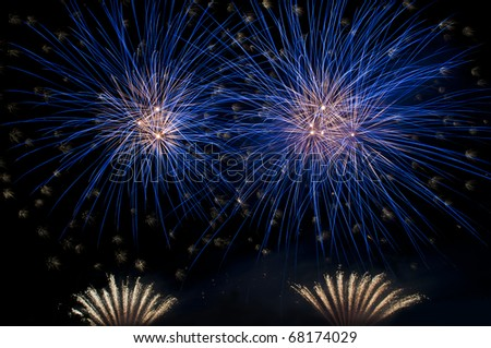 Outbreaks fireworks - stock photo