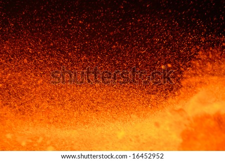outburst of boiling metal