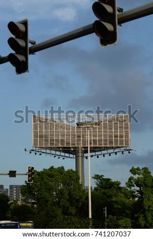 Outdoor advertising billboard  #741207037