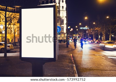 outdoor advertising billboard kisok #573992752