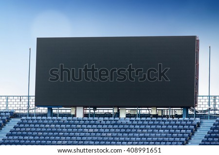 Outdoor Advertising Billboard LED for advertising in stadium #408991651