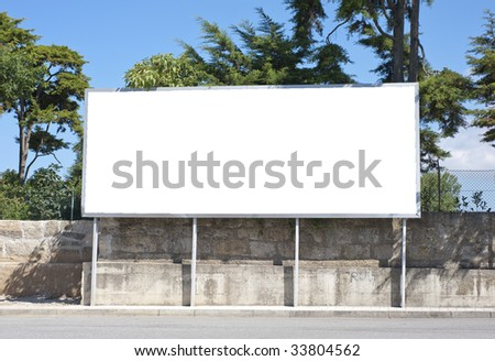 Outdoor advertising construction