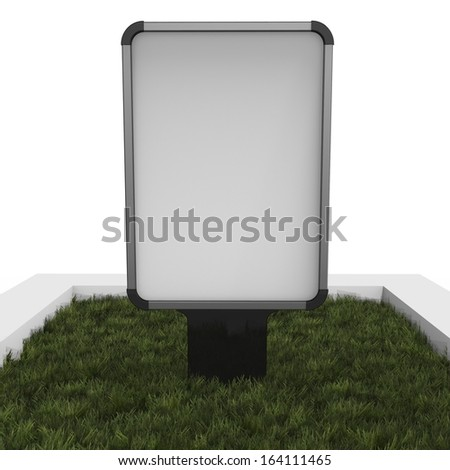 Outdoor advertising display, isolated on white background