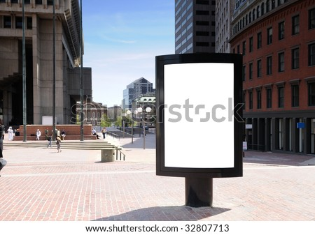 Outdoor advertising in the city