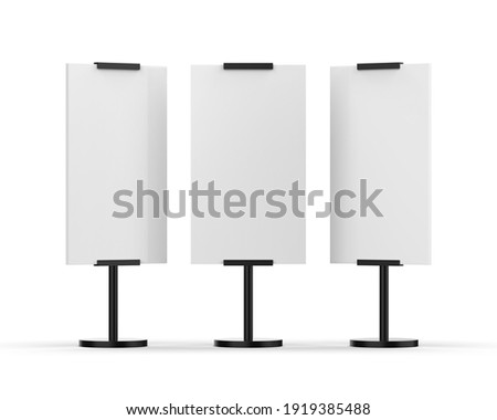 Outdoor advertising POS POI stand banner Or light box, mock up template on isolated white background, 3d illustration Photo stock ©
