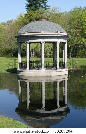 outdoor bandstand in park