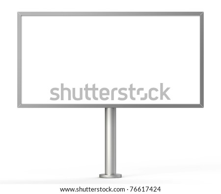 outdoor billboard isolated