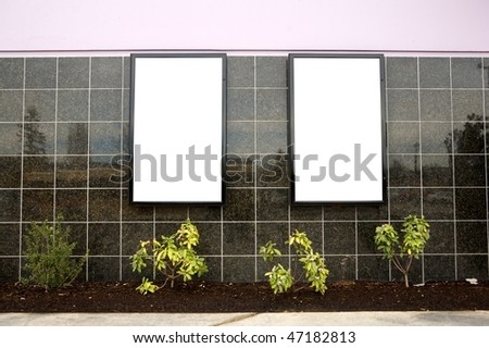 Outdoor blank wall sign