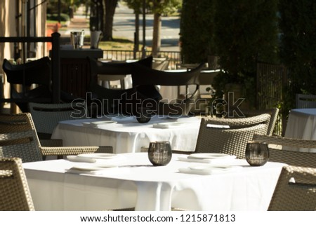 Outdoor Cafe during the day #1215871813