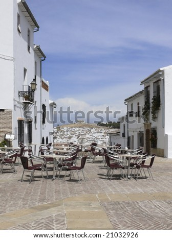 Outdoor cafe in Andalusia (Antequera)