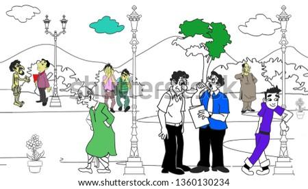 Outdoor Caricatures, Park, Oudoor