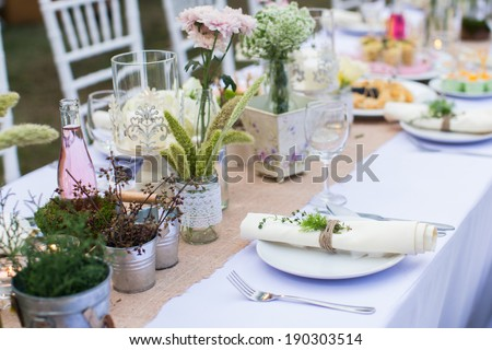 outdoor catering dinner at the...