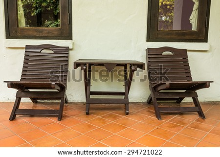 outdoor chair outside room in garden