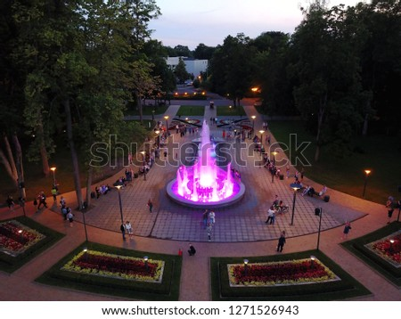 Outdoor dancing fountain