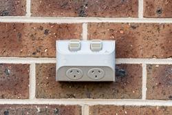 Outdoor Double Powerpoint on Bricks