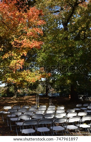Outdoor Fall Wedding #747961897