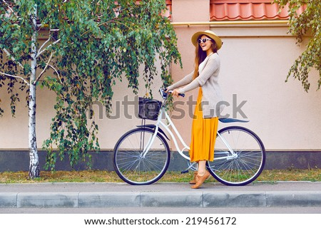 outdoor fashion portrait of...