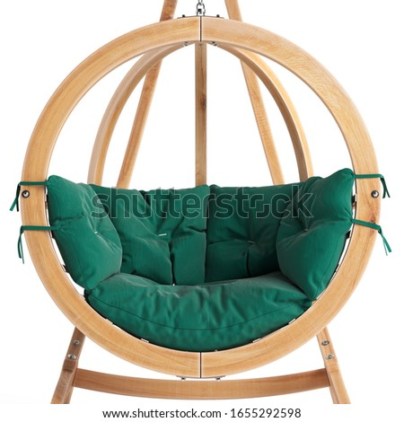 Outdoor hanging sofa with cushions for backyard
