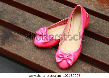 outdoor  High-heeled shoe - stock photo