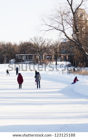 Outdoor Ice Skating in the Park