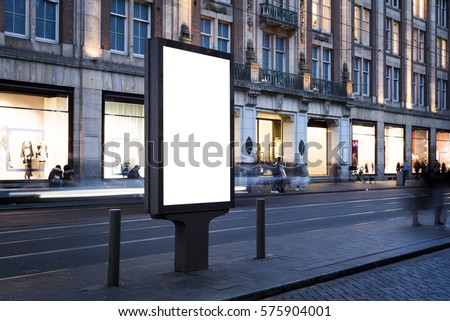 Outdoor kiosk city advertising
