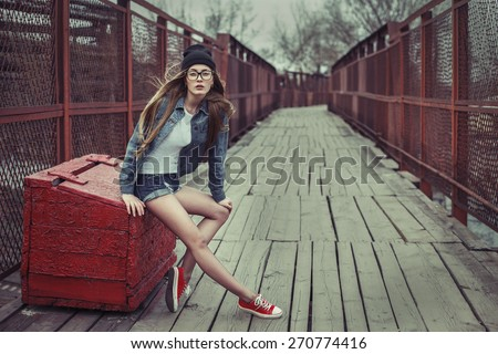 outdoor lifestyle portrait of...