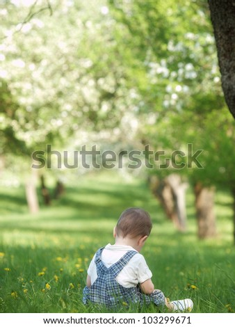 Outdoor little boy
