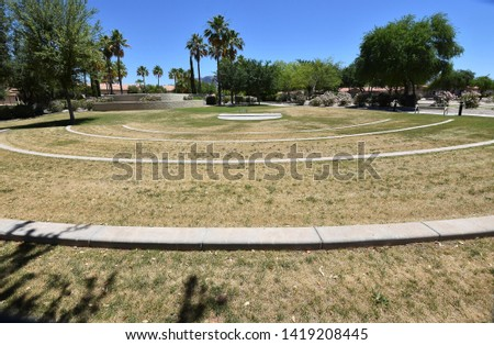 Outdoor Musical Stage and Lawn Seating in Arizona Retirement Community