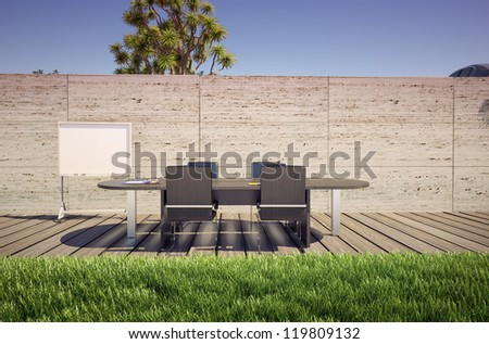outdoor office (3D concept)