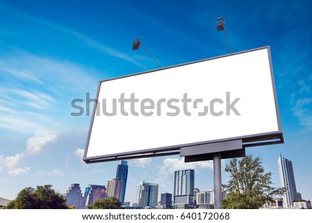 outdoor or street advertising  banner of billboard mockup - Shutterstock ID 640172068