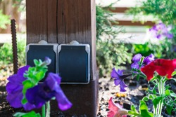 outdoor outlet in the garden