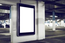 outdoor parking advertising abri billboard kiosk