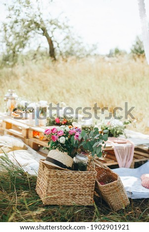 Outdoor picnic on a warm summer day Сток-фото ©