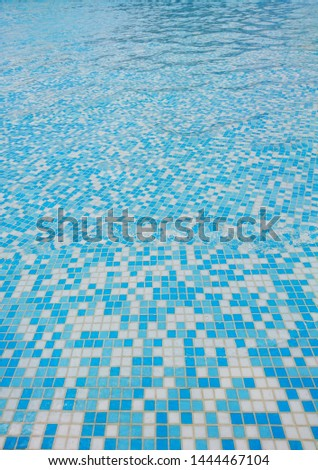 Outdoor pool with clear clear blue water