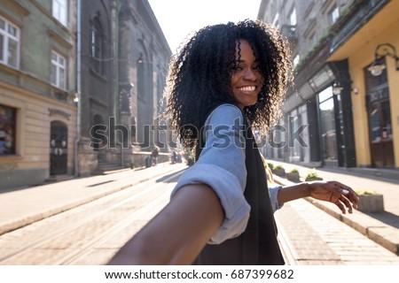 outdoor portrait of attractive...