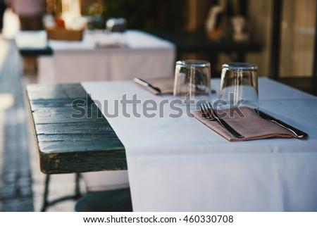 Outdoor restaurant in Italy #460330708