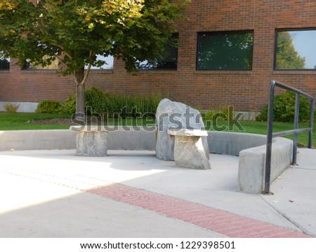 outdoor rock bench #1229398501