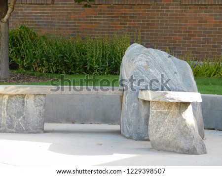 outdoor rock bench #1229398507