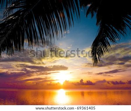 Outdoor Sea Paradise - stock photo