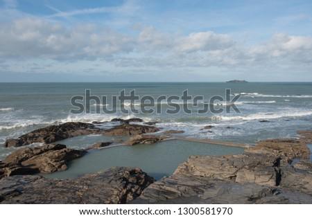 Free photos Rock pool on a Cornish beach  | Avopix com