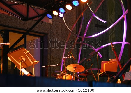 Outdoor stage at jazz festival in Montreal