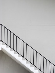 Outdoor Stair with wall