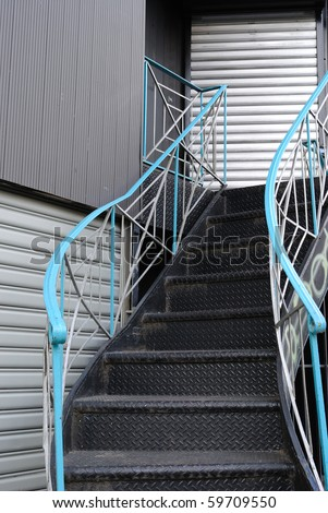 outdoor stairs in the city