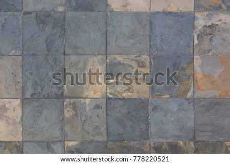 Outdoor Stone Block Tile Floor Or Wall Background And Texture Pattern