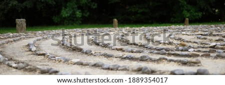 Outdoor stone labyrinth for meditation Stock photo ©
