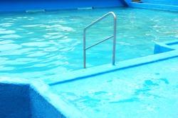Outdoor swimmingpool light blue composition