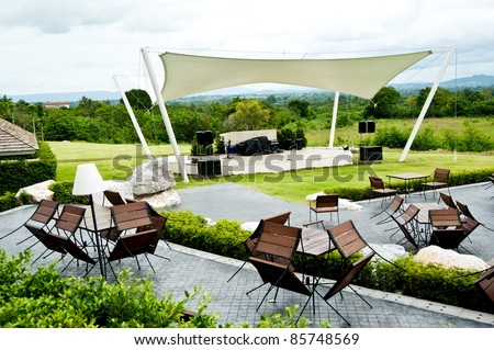 outdoor table and outdoor stage