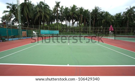Outdoor tennis hard court